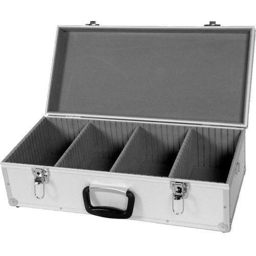 Skrzynia, kufer na płyty CD, DVD Perel 1823-560, 80 płyt CD/DVD, aluminiowy - oferta (6519d4a0cfb357ef)