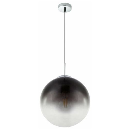 Globo Lampa wisząca varus 15863 lampa sufitowa zwis 1x40w e27 chrom / dymiony czarny