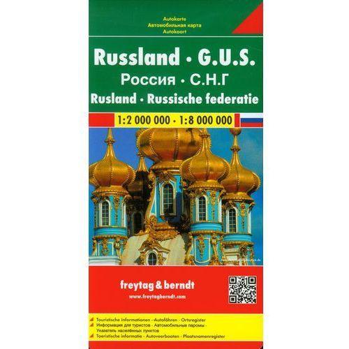 Rosja 1:2 000 000 / 1:8 000 000. Mapa samochodowa, składana. Freytag&Berndt (9783850842372)