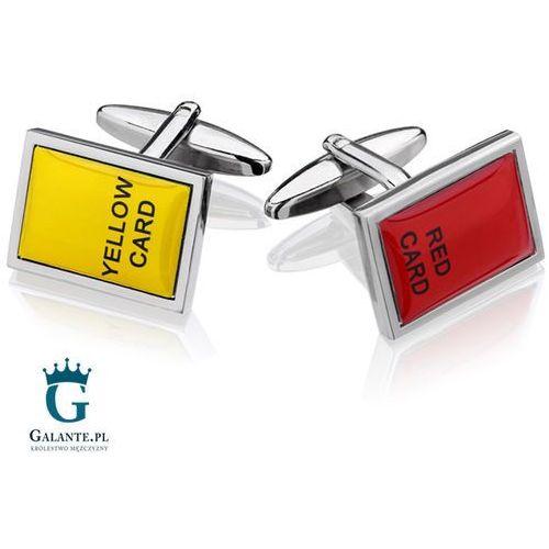 Spinki do mankietów żółta i czerwona kartka sd-4695 marki Galante