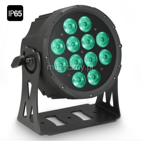 flat pro 12 ip65 - 12 x 10 w flat led outdoor rgbwa par - reflektor led w czarnej obudowie ip65 marki Cameo