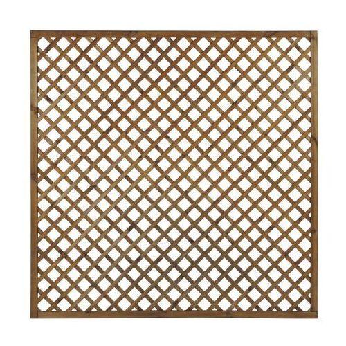 Naterial Płot kratkowy 180x180 cm drewniany nive