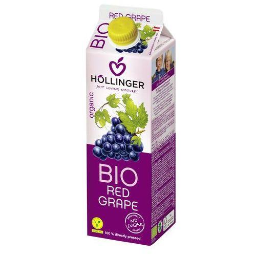 Hollinger Sok z czerwonych winogron 100% bez cukru 1l -
