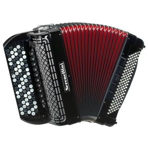 Serenellini 454 45(82)/4/11 120/5/5 piccolo akordeon guzikowy (czarny)