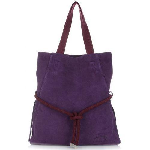 733bd4324b00a Vittoria gotti duże torebki skórzane typu shoppebag xl z kosmetyczką  fioletowy (kolory) 279