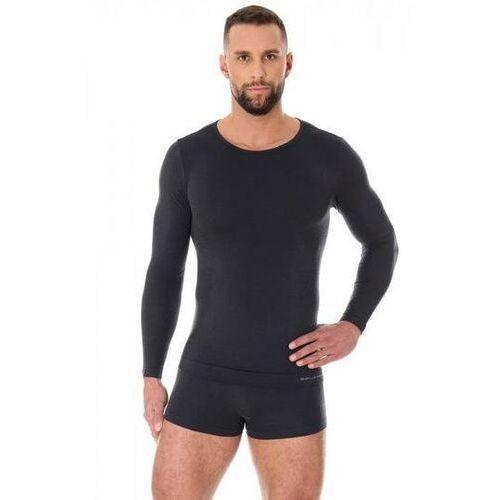 ls11600 koszulka męska z długim rękawem comfort wool grafitowy marki Brubeck