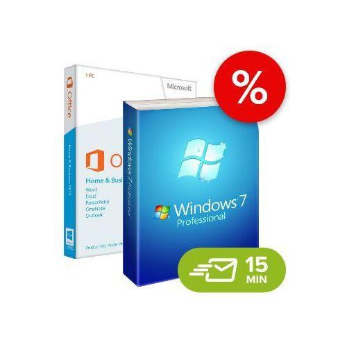 Windows 7 professional + office 2013 home and business (w7-o13-esd) elektroniczny certyfikat marki Microsoft