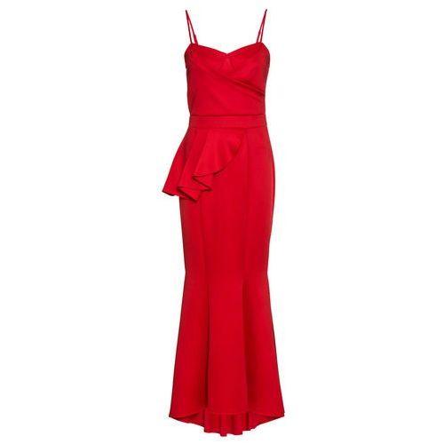 Długa sukienka wieczorowa bonprix czerwony, kolor czerwony