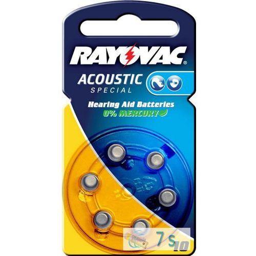 Rayovac 6 x baterie do aparatów słuchowych acoustic special 10