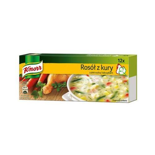 12x10g rosół z kury z pietruszką i lubczykiem kostka marki Knorr
