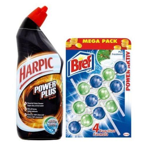 Zestaw HARPIC 750ml Żel do wc + BREF 3x50g zawieszki do muszli WC Mega Pack, produkt marki BDsklep.pl