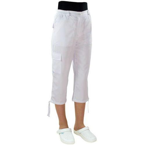 Spodnie medyczne damskie rybaczki bojówki 797