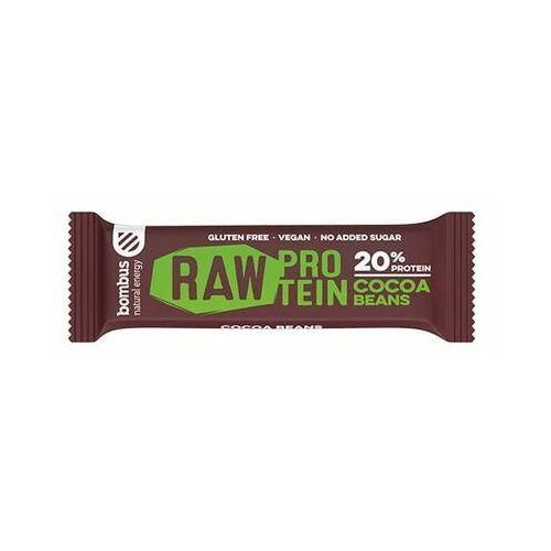 Baton RAW PROTEIN z ziarnami kakaowca bezglutenowy 50 g Bombus (8594068261135)