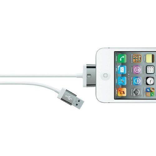 Kabel USB 2.0, Belkin F8J041cw2M-WHT, do iPoda, iPhone'a, iPada, 2 m, biały - oferta (056a2472c7a11477)