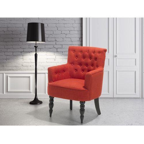 Beliani Fotel wypoczynkowy czerwony do salonu tapicerowany - alesund