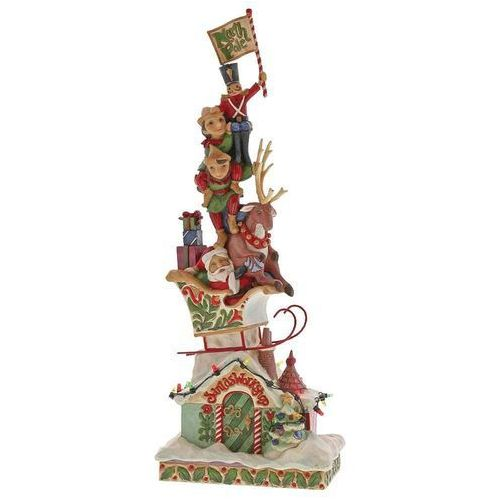 Biegun północny światełko led heaped with holiday cheer (lighted stacked santa) 4060310 figurka ozdoba świąteczna marki Jim shore
