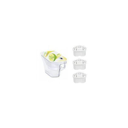 Brita  navelia limonka lime dzbanek filtrujący 2.3l + filter logic fl-402h wkład filtracyjny 3 sztuki (4006387060213)