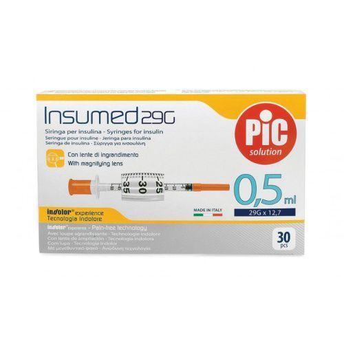 Strzykawki insulinowe INSUMED 0,5ml G29x12,7mm (30szt.), 150