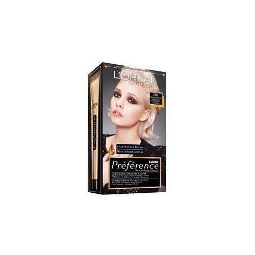 Feria Preference farba do włosów 102 Iridescent Bliss bardzo jasny blond perłowy, L'Oreal Paris