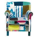 Kare Design  Ibiza Patchwork Stripes Fotel Kolorowy Tkanina 74x66cm (77852) z kat. fotele