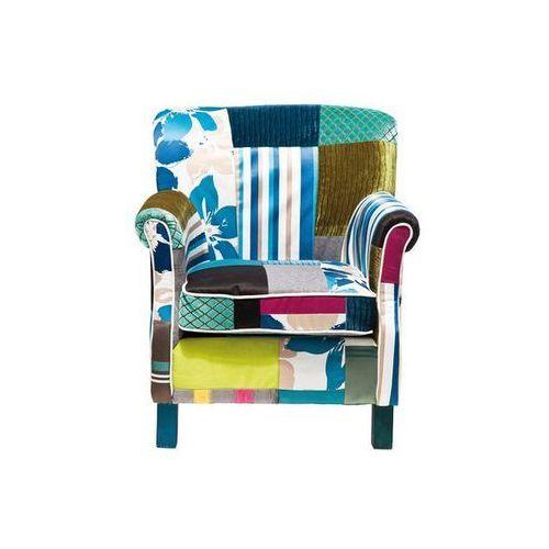 Ibiza Patchwork Stripes Fotel Kolorowy Tkanina 74x66cm (77852), marki Kare Design do zakupu w sfmeble.pl