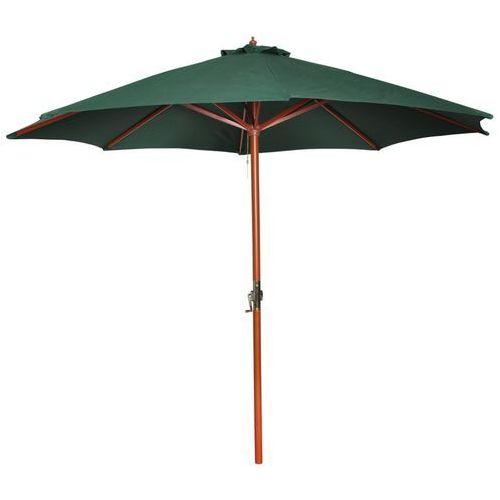 Vidaxl parasol przeciwsłoneczny w kolorze zielonym o wysokości 258 cm.