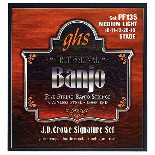 Ghs j.d. crowe signature struny do banjo, 5-str. stainless steel, stage,.010-.020