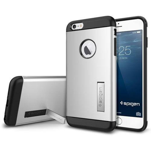 Oryginalne etui obudowa Spigen SGP Slim Armor Satin Silver dla iPhone 6 Plus - Satin Silver (8809404212222)