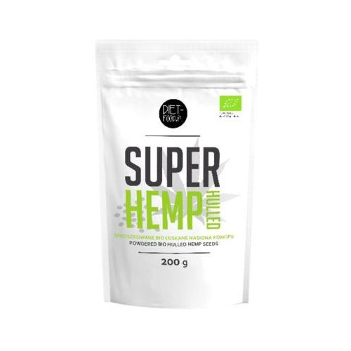 Diet food 200g super hemp hulled sproszkowane bio łuskane nasiona konopii marki Diet-food