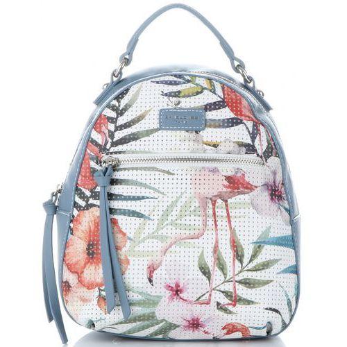 acaaf07e0ab1f modne plecaczki damskie wykonana z wysokiej jakości skóry ekologicznej w  tropikalne wzory multikolor niebieskie (kolory) marki David jones 109,00 zł  ...