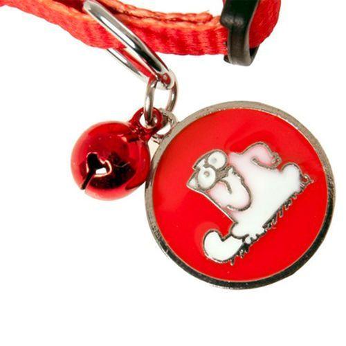 Obroża dla kota z dzwonkiem i zawieszką marki Simon's cat