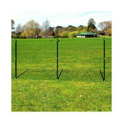 Ogrodzenie panelowe z słupkami, siatka 6/5/6 mm, 143 cm x 40 m - produkt dostępny w VidaXL