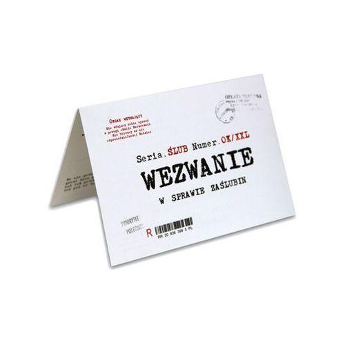 Zaproszenie z kopertą wezwanie w sprawie zaślubin - 1 szt. marki Ag firma