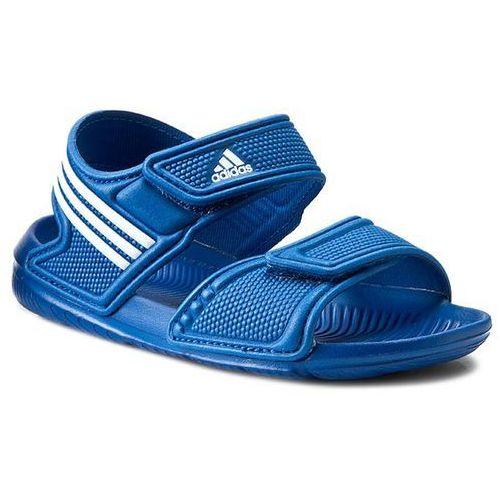 Sandały adidas - Akwah 9 K S74649 Eqtblu/Ftwwht/Ftwwht (sandałki dla dzieci)