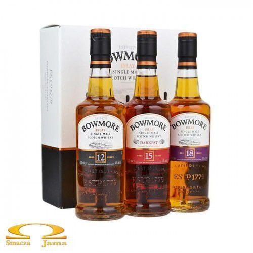 Morrison bowmore distillery ltd Zestaw whisky bowmore 12 yo + 15 yo + 18 yo 3x200ml