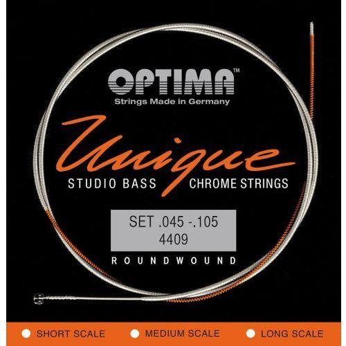 Optima 4409M (681145) struny do gitary basowej Unikalne struny Studio Chrome Strings Komplet