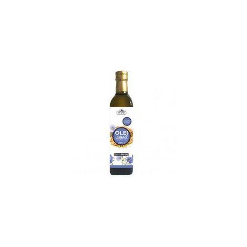 Olej lniany zimnotłoczony nierafinowany 500 ml - marki Dr gaja