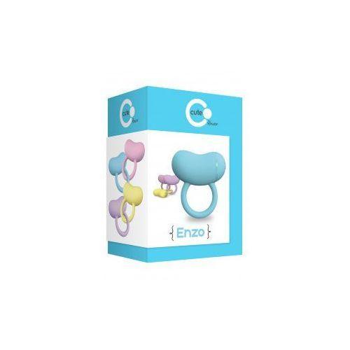 Mega silne wibracje-pierścień wibracyjny na penisa ToyJoy Cute ENZO - produkt z kategorii- sztuczne członki i pochwy