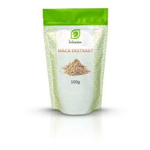 Maca ekstrakt 4:1 (1kg ekstraktu z 4kg korzenia maca) 100g marki Intenson europe sp. z o.o.