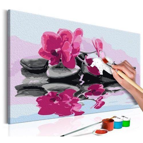 Obraz do samodzielnego malowania - orchidea i kamienie zen w lustrze wody marki Artgeist