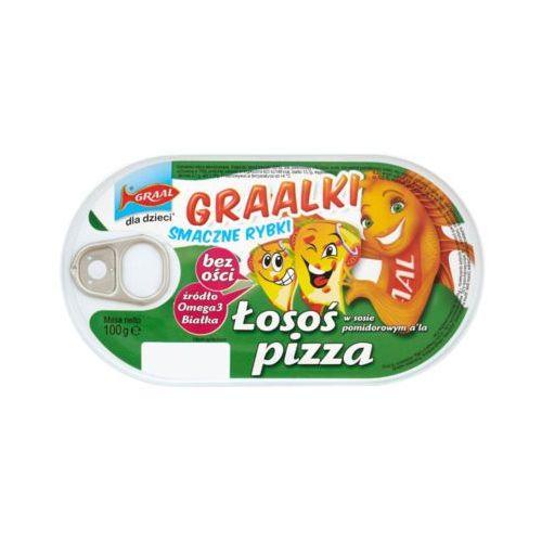 100g graalki łosoś w sosie pomidorowym a'la pizza dla dzieci marki Graal