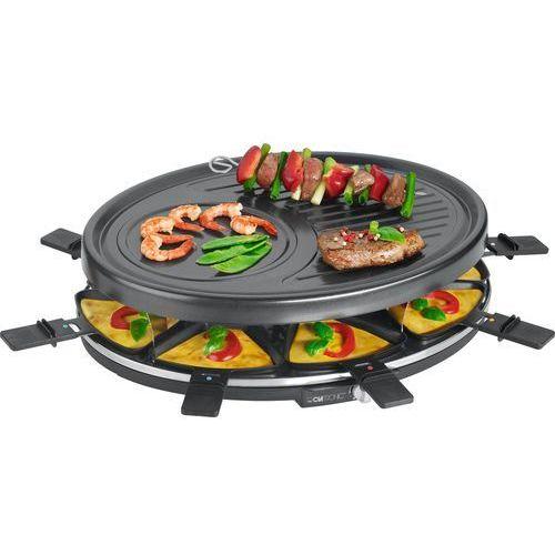 Grill elektryczny rg 3517 (1400w stołowy-otwarty z raclette, czarny)- wysyłamy do 18:30 marki Clatronic
