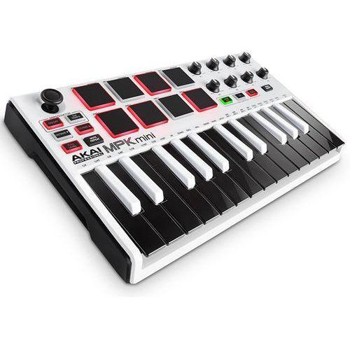 """AKAI MPK MINI 2 WHITE – Mini klawiatura sterująca -5% na pierwsze zakupy z kodem """"START""""! (0694318022177)"""