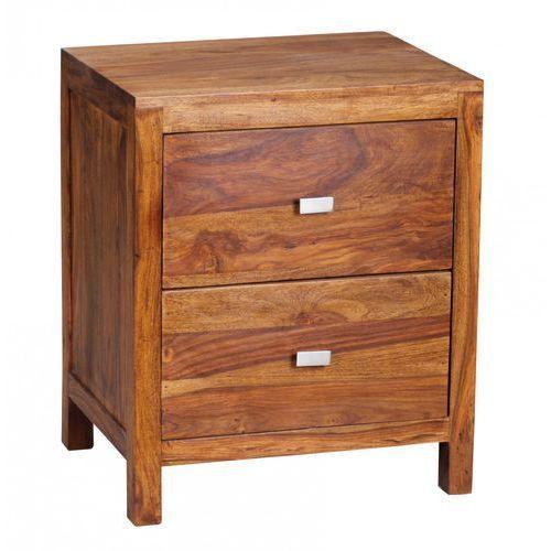 Machina Meble Lagos Szafka Nocna Drewno Sheesham Lite Drewno 2 Szuflady 50 x 40 x 60 cm - WL1-371 - produkt dostępny w sfmeble.pl