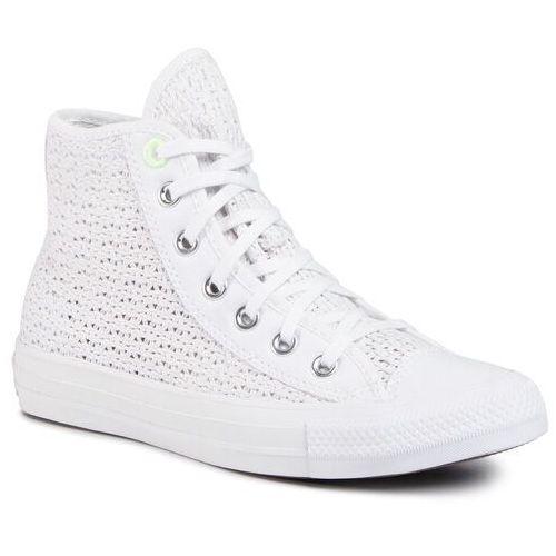 Sneakersy - ctas hi 567654c white/barely volt/white marki Converse