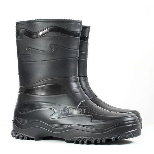 Buty gumowe, kalosze damskie/młodzieżowe YOUNG czarne , Demar z Asport.pl -  Sklep Sportowy