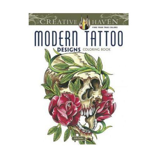 Creative Haven Modern Tattoo Designs Coloring Book, Siuda, Erik Creative Haven