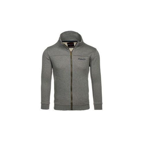 Bluza męska bez kaptura rozpinana antracytowa Denley 5595