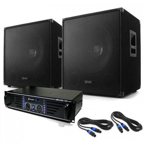 """Electronic-Star DJ PA SET """"Lewis 1200 Bass Tornado"""" 38 cm 1200 W"""
