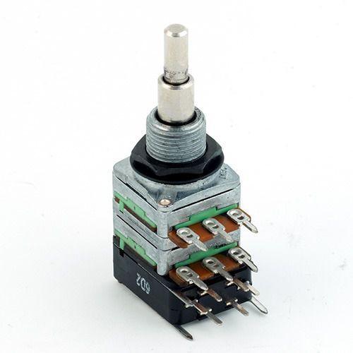 Mec 16 mm potencjometr gitarowy r1=b 10 k-r2=b 250 k-dpdt switch